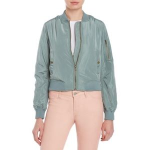 Romeo + Juliet Couture Dusty Sage Bomber Jacket